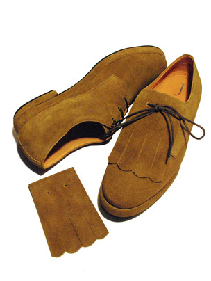 Suede Shoes with detachable Kilties