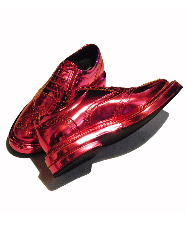 Metallic Hot Pink extra chunky Brogues