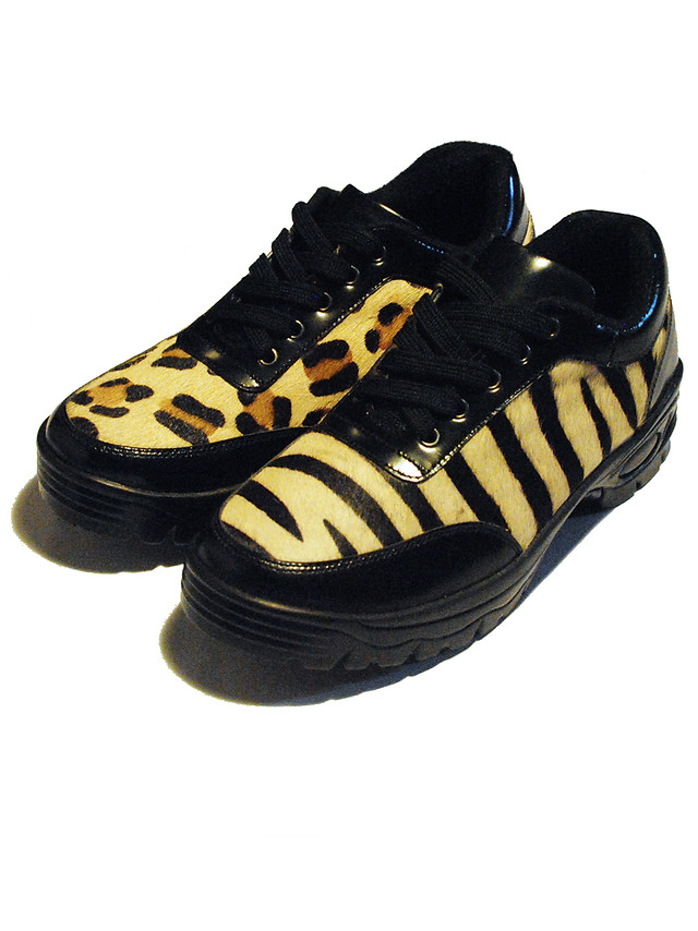 Mixed Animal print leather Sneakers