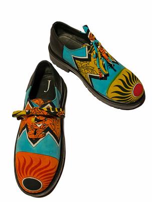 Vintage Cotton printed Sari Shoes