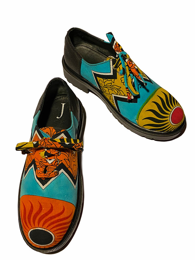 Vintage Cotton printed Sari Shoes