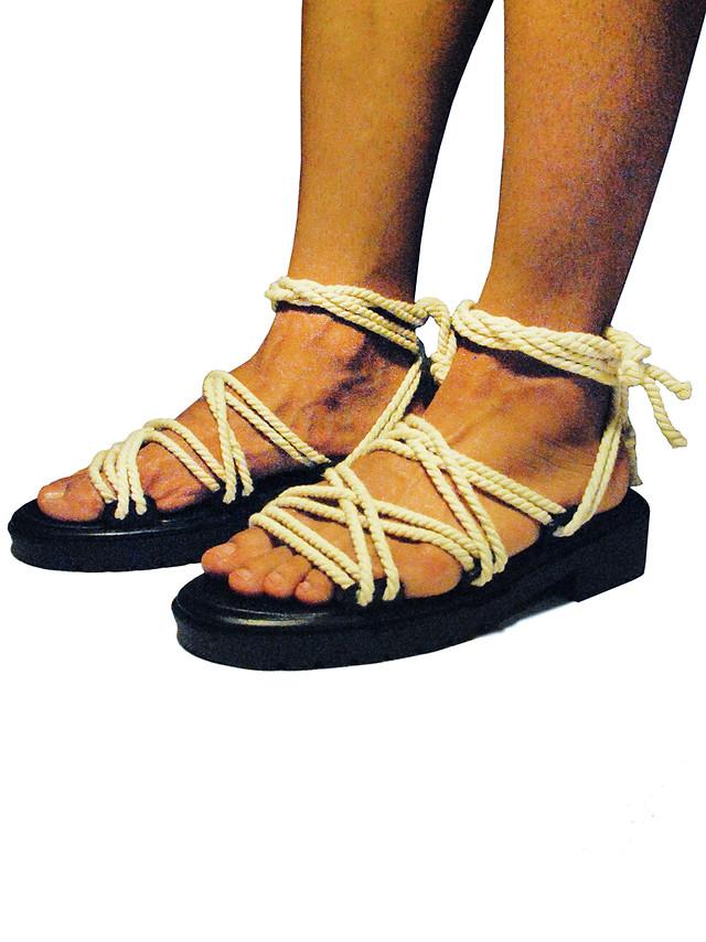 Nautical rope sandals