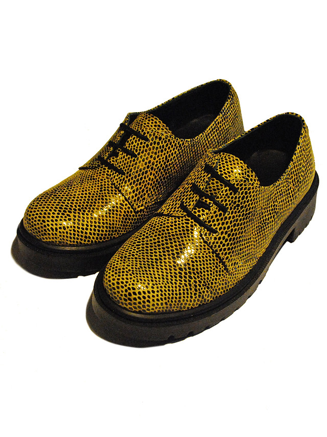 Faux Snake Skin leather Derby Shoes