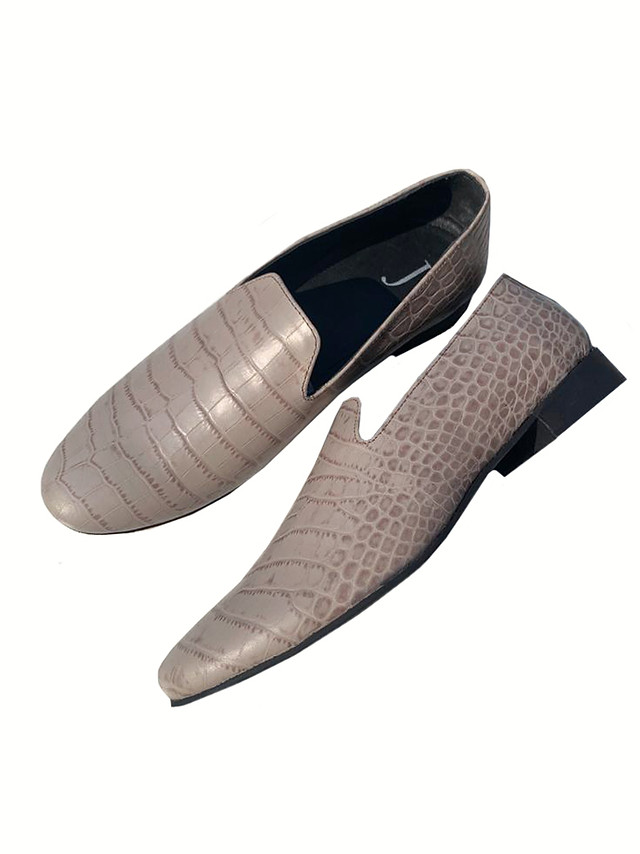 Crocodile Embossed leather loafers