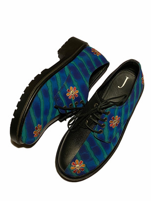 Vintage Leheria Silk Sari Shoes