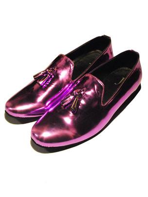 Purple Metallic Loafers