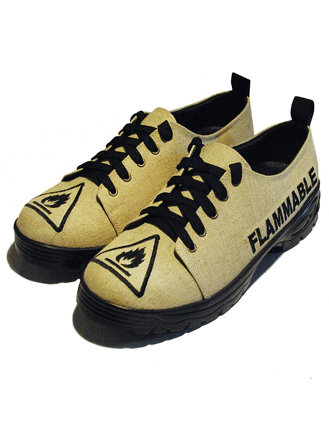 Flammable Jute Shoes