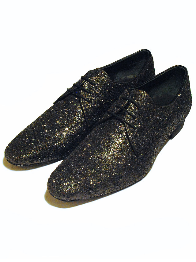 Black Glitter formal shoes