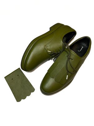 Detachable Kiltie Derby with a thick chunky sole