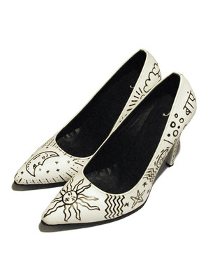 Handpainted and completely customisable leather heels
