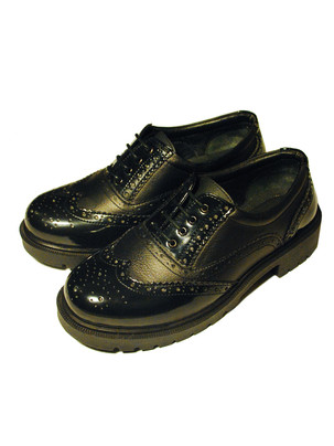 Mixed leather Brogues