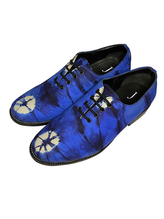 Tie Dye Leather Derbies
