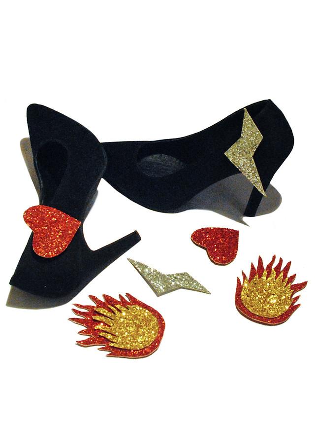 Detachable patch heels