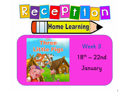 Reception Home Learning Week 3