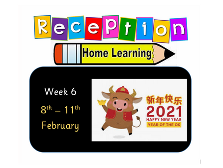 Reception Home Learning - Week 6