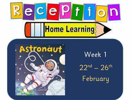 Reception Home Learning - Space Week 1