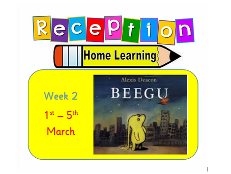 Reception Home Learning- Week 2