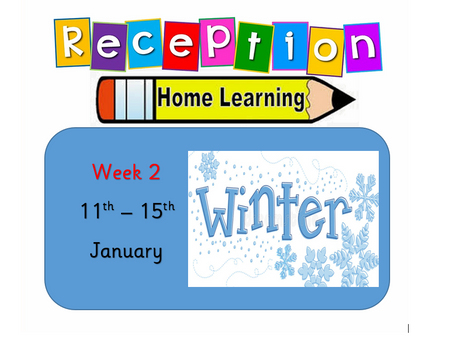 Reception Home Learning Week 2