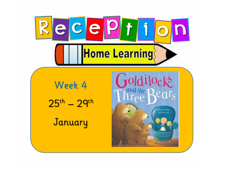 Reception Home Learning - Week 4