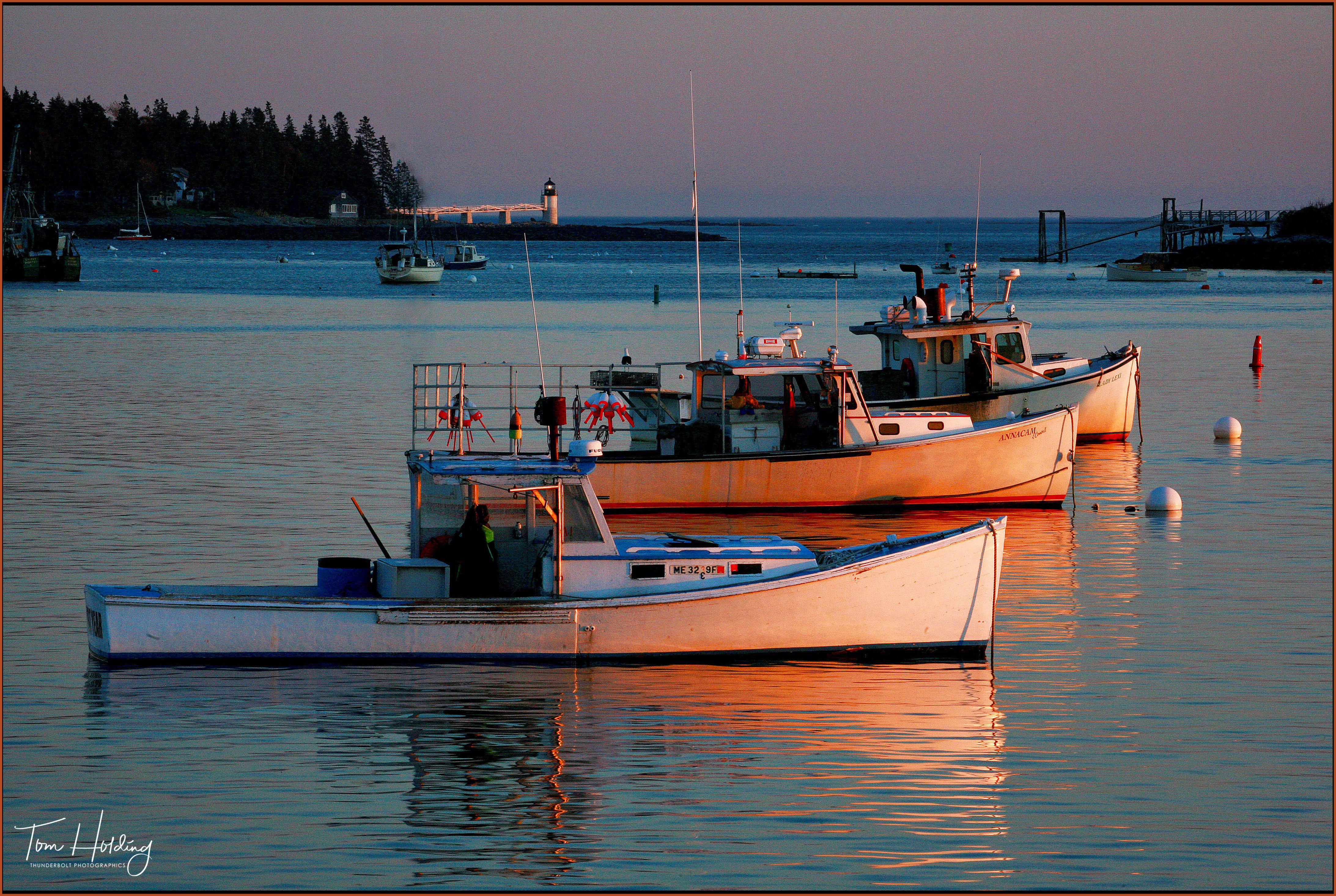 Lobster Boat Reflection