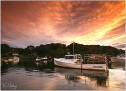 New Harbor Sunset