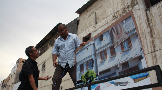 La rue bouge 2013 Intervention dans le quartier Nass Socica, Casablanca