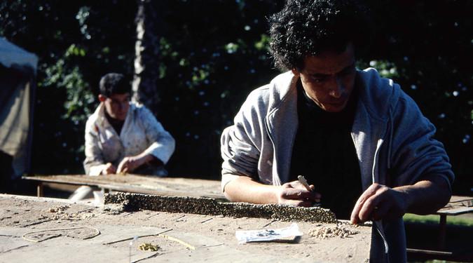 Le Projet de la maquette 2002-2003 Techniques mixtes sur bois, sérigraphie, vidéo, photo- graphie tirage numérique, textes et outils, 17m2