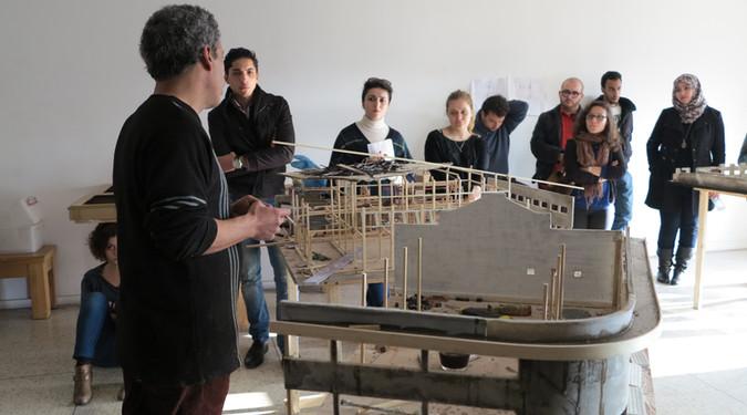 IN Le square d'en bas 2013-2017 Rencontre avec des étudiants de l'école d'architecture de Casablanca