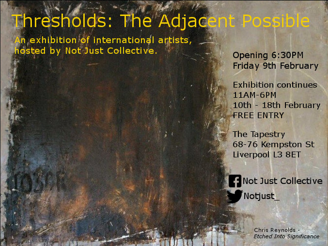 Selected to show at 'THRESHOLDS: The Adjacent Possible'!