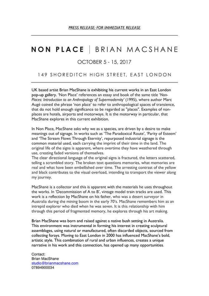 Non Place - Solo Exhibition