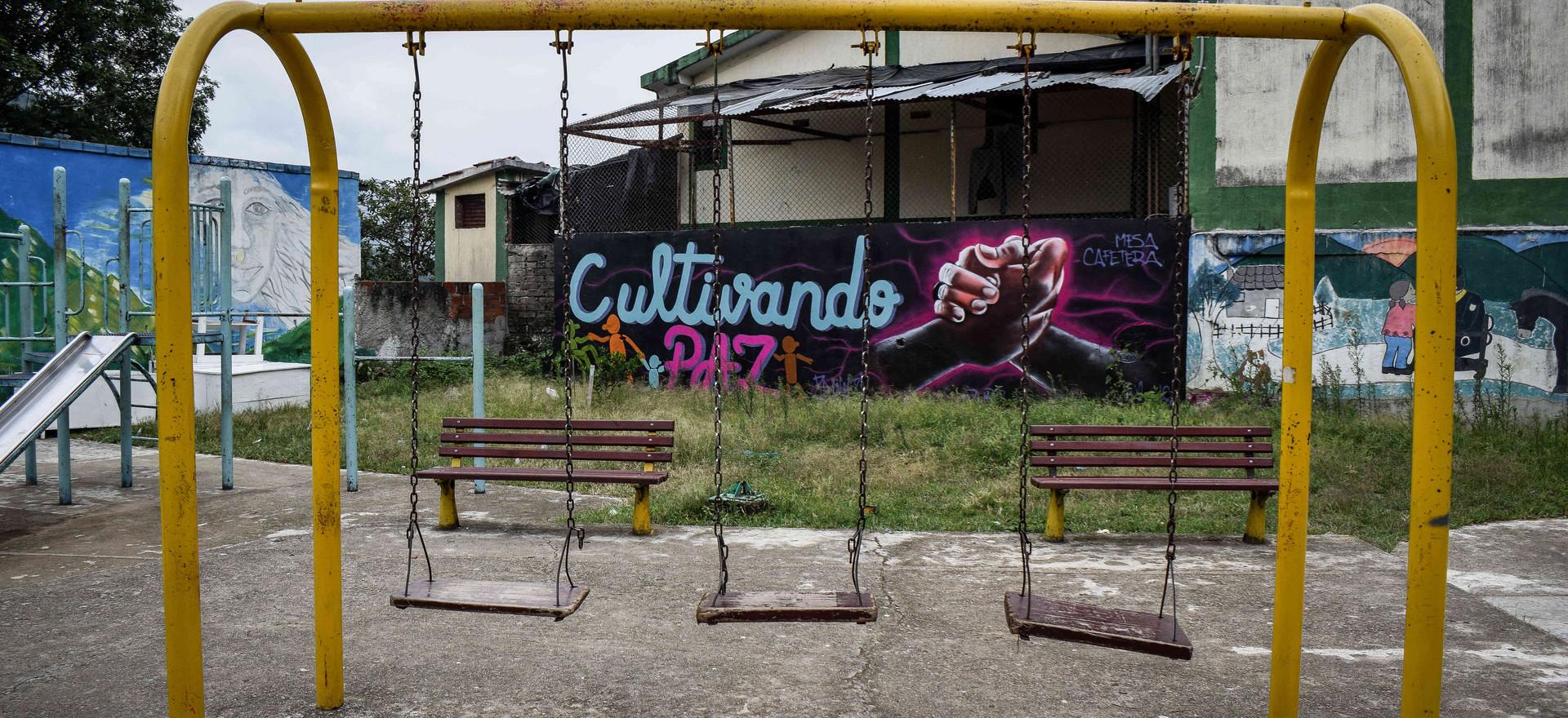 Murales por la paz en Gaitania