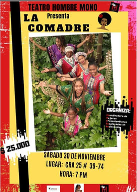 Cartel de la obra de Teatro La Comadre_