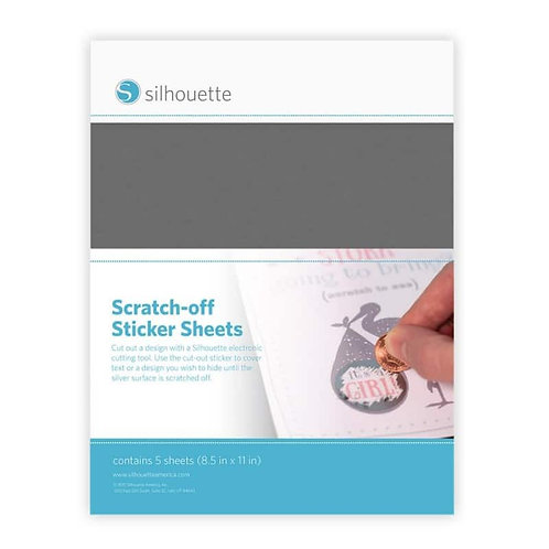 Scratch off sticket sheets silver
