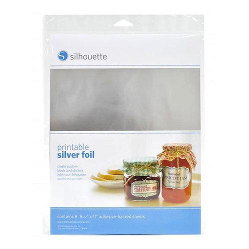 Papel Autoadherible met�lico plata