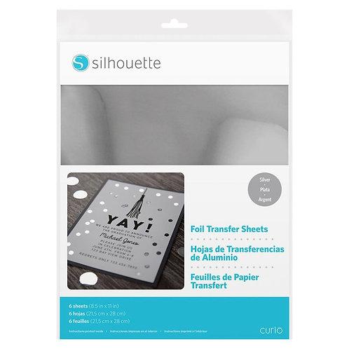 Papel Foil Transferible en frio silver