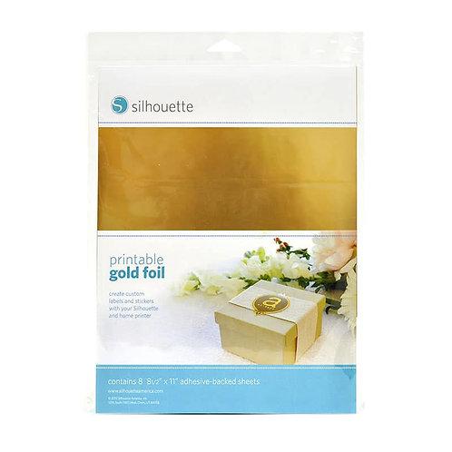Papel autoadherible met�lico oro