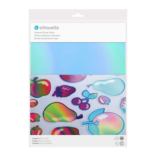 Papel adhesivo sticker papel iridescent