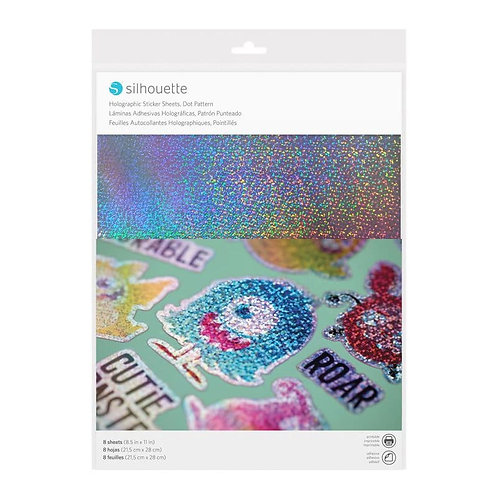 Papel adhesivo imprimible sticker papel holographic dots1