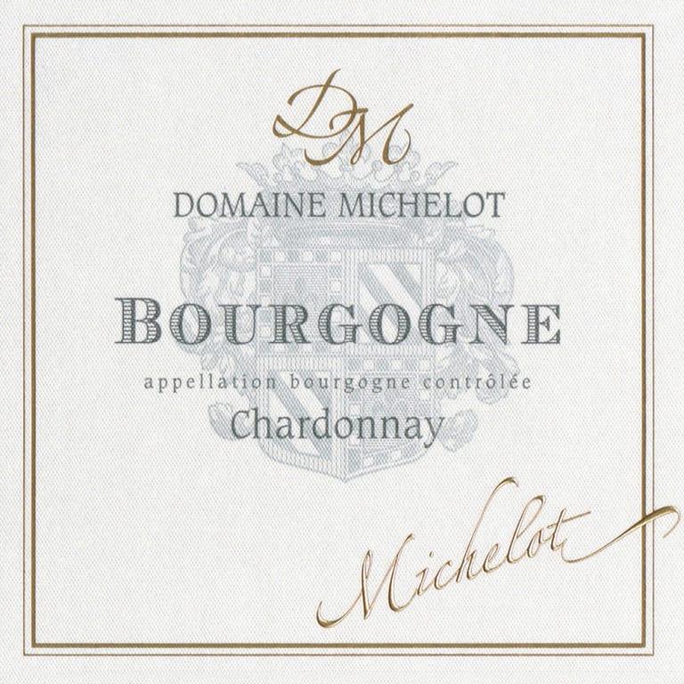 Domaine Michelot Bourgogne Chardonnay wine label.