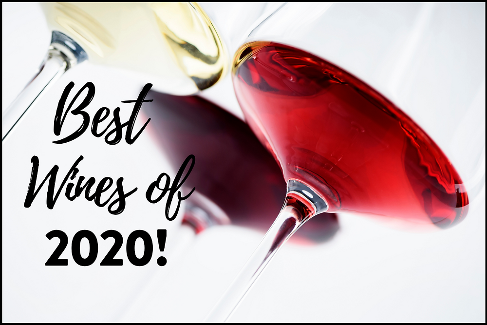 3 glasses of wine pictured with the words - Best Wine of 2020!