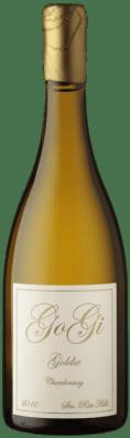 Bottle of GoGi Goldie Chardonnay.