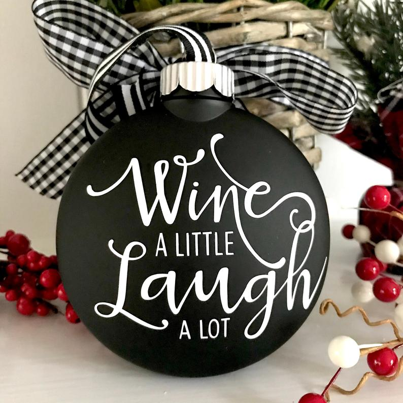 Wine Christmas Ornament