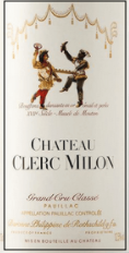 Chateau Clerc Milion 1998 wine label