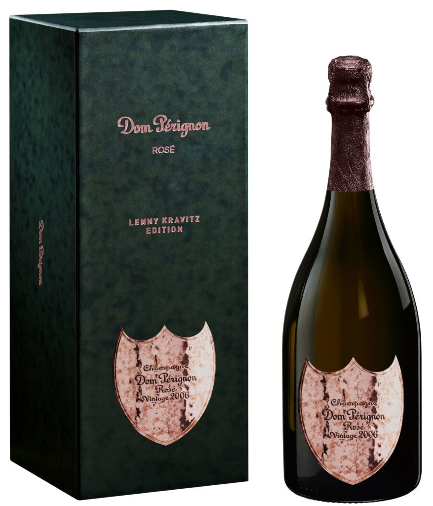 Bottle of Dom Perignon Rose with Gift Box.