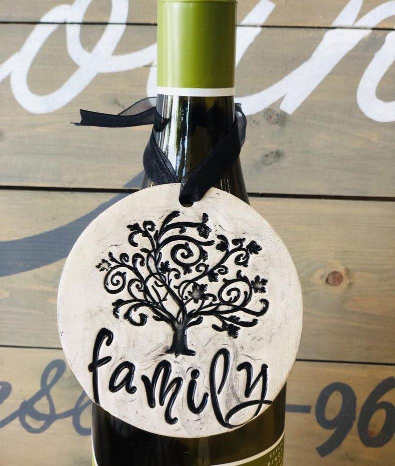 Family Tree Pottery Ornament