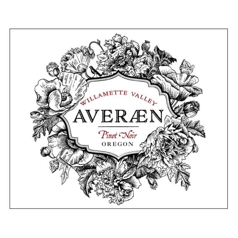 Averaen Pinot Noir wine label.