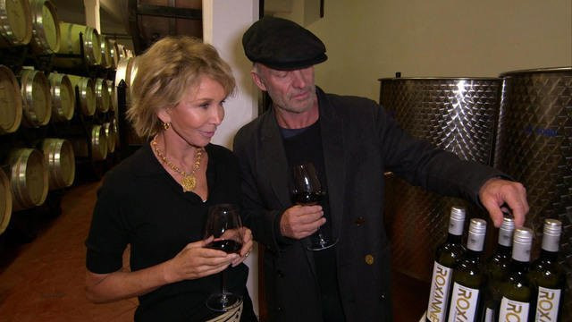 Sting and wife Trudy at their winery.