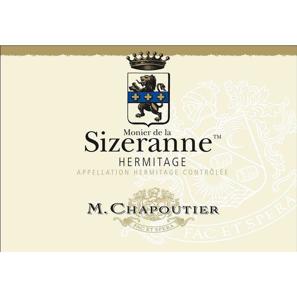 M. Chapoutier Hermitage Monier de la Sizeranne wine label