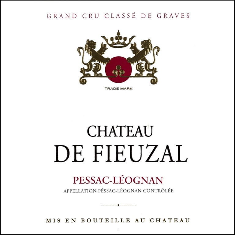 Chateau de Fieuzal wine label
