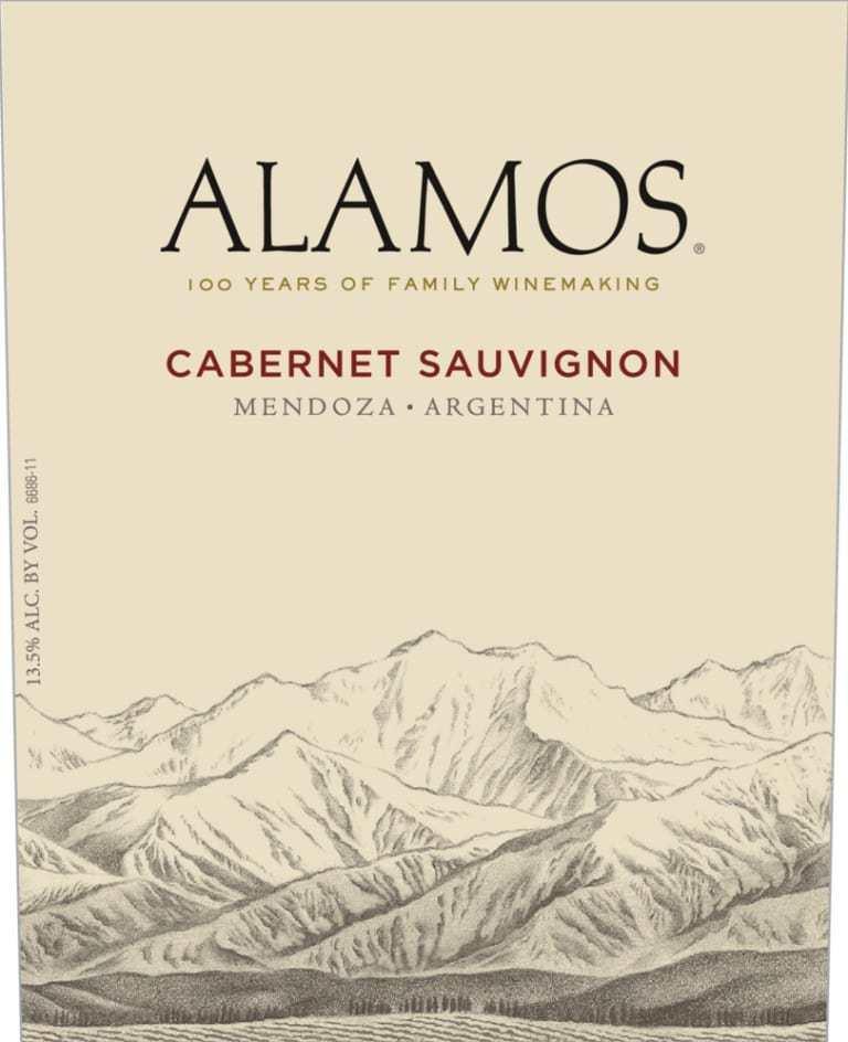 Wine Label for Alamos Cabernet Sauvignon